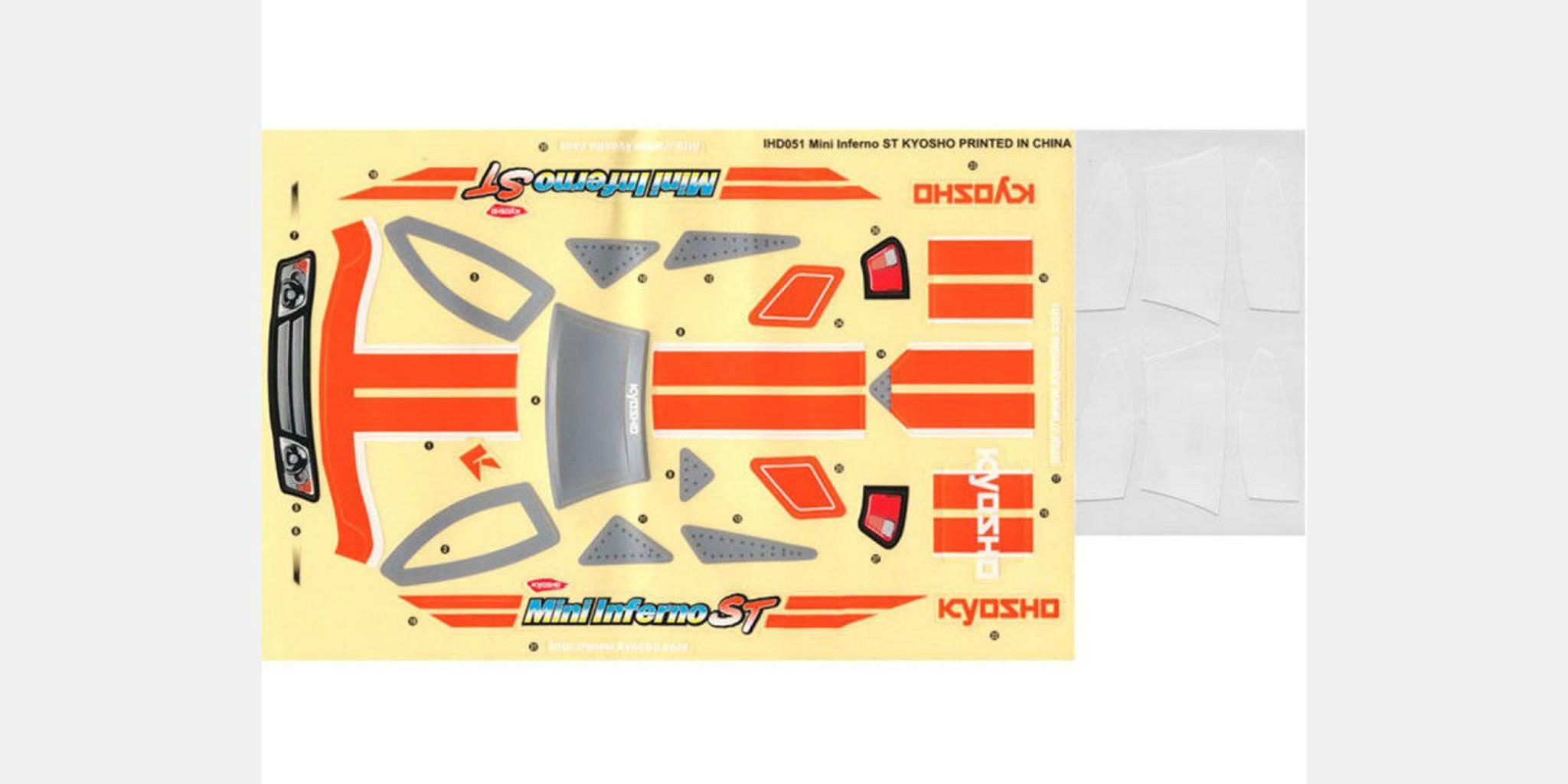 Kyosho IHD04 Decal Set Mini Inferno ARR
