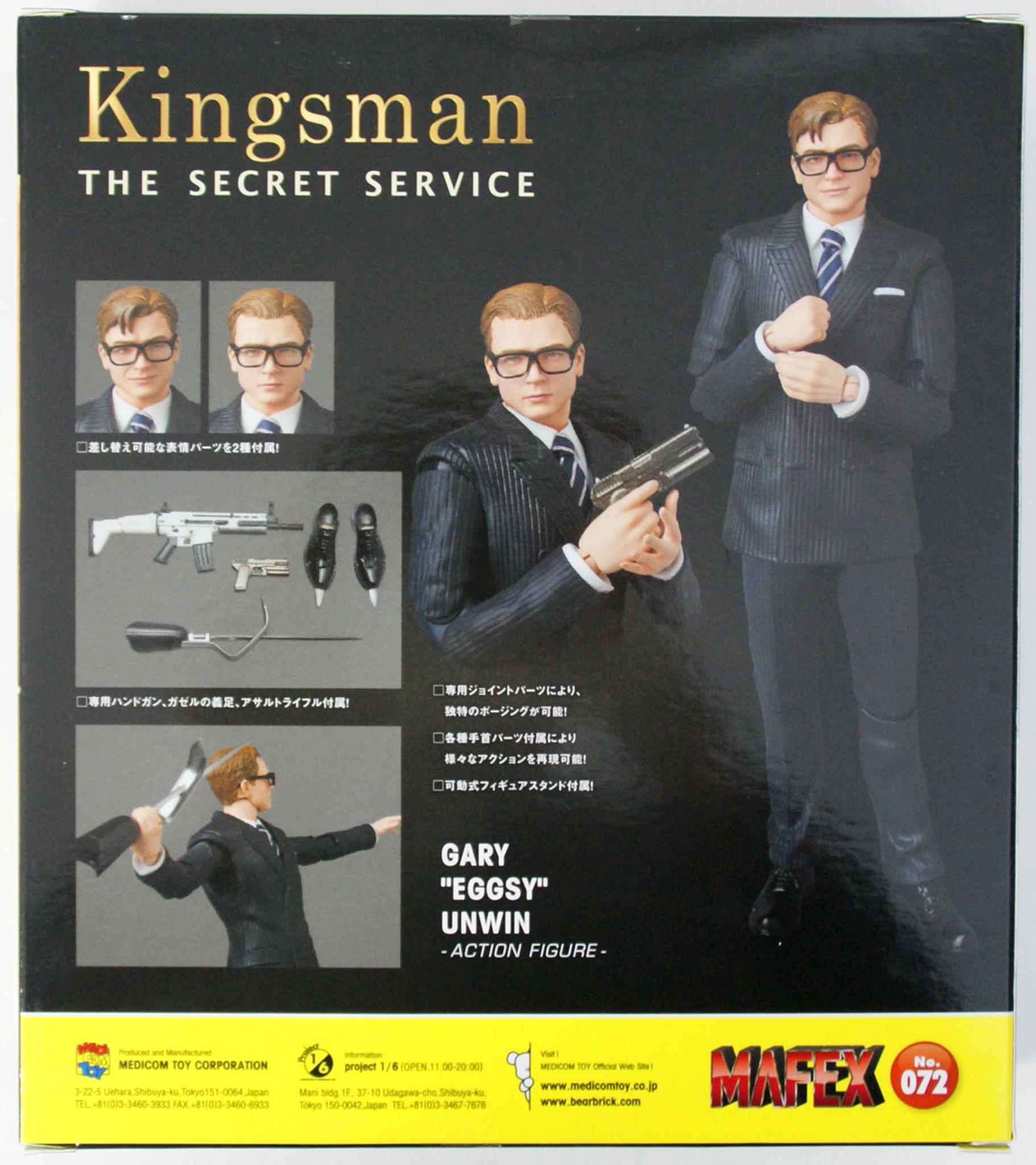 """Gary /""""Eggsy/"""" Unwin Medicom Toy MAFEX No.072 Kingsman"""