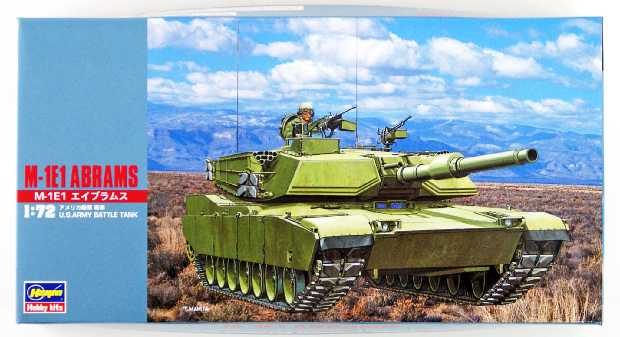 Hasegawa MT35 M-1E1 ABRAMS TANK 1//72 Scale Kit