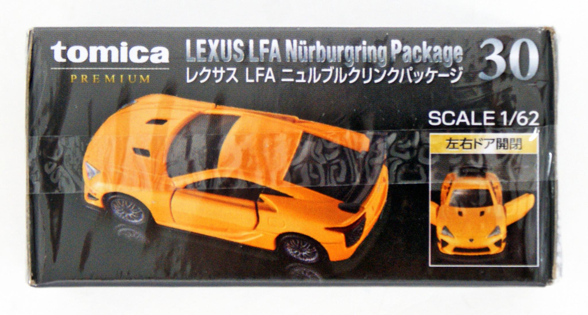 TOMICA PREMIUM 30 LEXUS LFA Nurburgring Package 1//62 TOMY DIECAST CAR NEW 2018