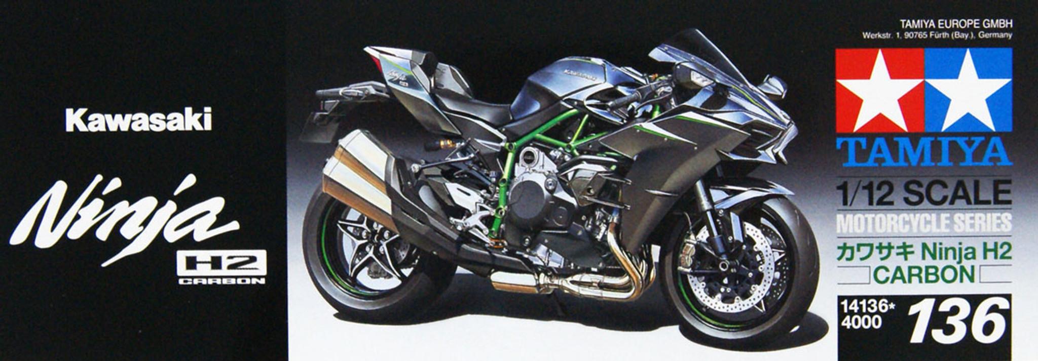 Tamiya 14136 Kawasaki Ninja H2 Carbon 1/12 scal | PlazaJapan