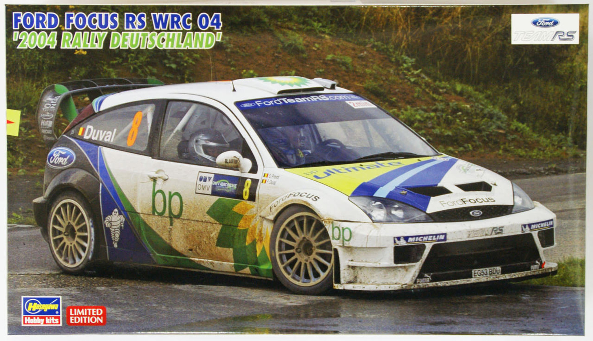 Hasegawa 20263 Ford Focus Rs Wrc 04 2004 Rally Deutschland 1 24