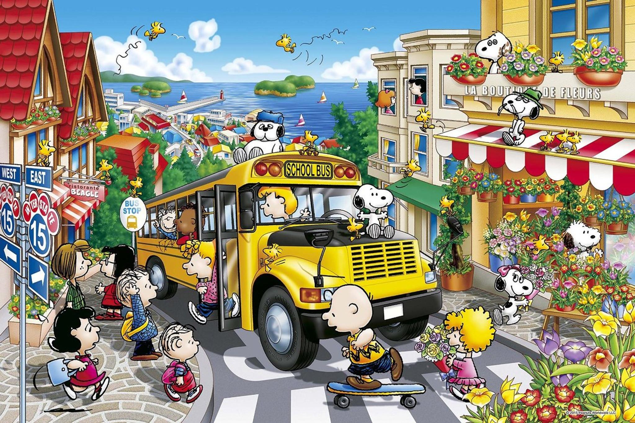 Epoch Jigsaw Puzzle 11-527 Peanuts Snoopy Happy School Bus