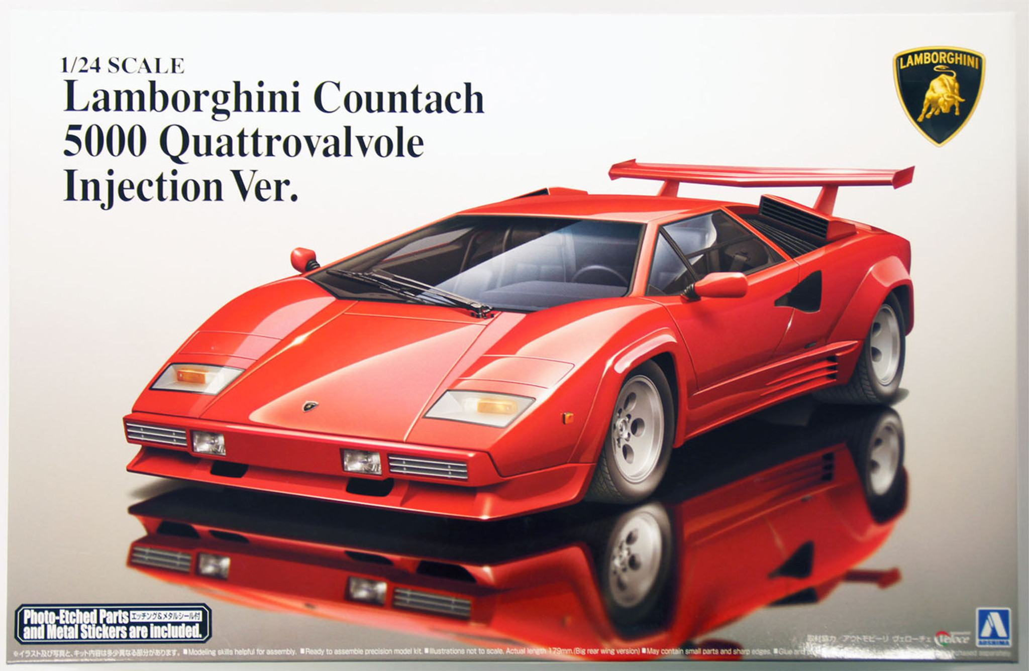 Aoshima 11546 Lamborghini Countach 5000 Quattrovalvole Injection
