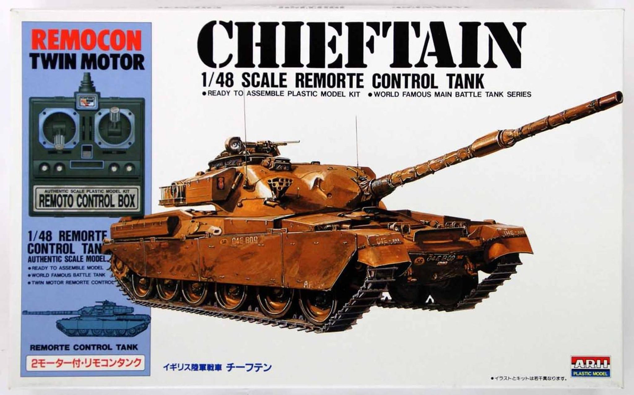 Arii 141533 Chieftain Remote Control Tank 1/48 Scale Kit