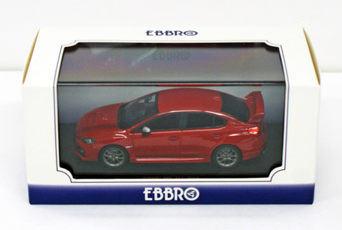 Ebbro 45313 SUBARU WRX STI 2014 (Red) 1/43 Scale