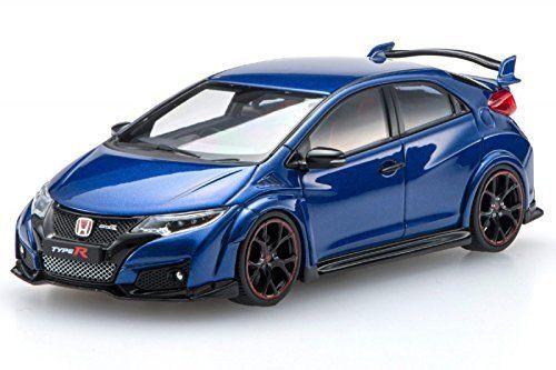 Ebbro 45355 Honda CIVIC TYPE R 2015 Brilliant Sporty Blue Metallic 1/43 Scale