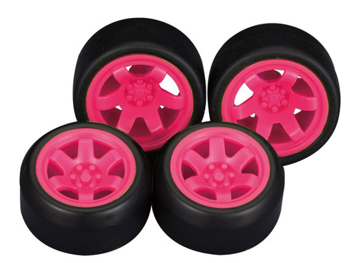 Bandai GEKI DRIVE CP-016 Tire Wheel Set 05 (24/25 Wide) 4549660080978