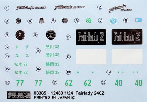 Fujimi ID-162 Nissan Fairlady Z 432 with S20 engine 1/24 Scale Kit