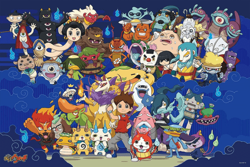Ensky Jigsaw Puzzle 500-L167 Japanese Anime Yo-Kai Watch (500 L-Pieces)