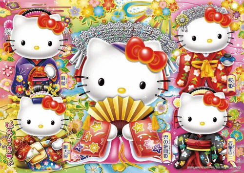 Beverly Jigsaw Puzzle 108-792 Sanrio Hello Kitty Japanese Princess (108 Pieces)