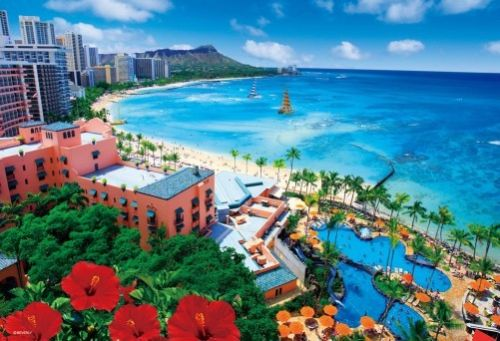 Beverly Jigsaw Puzzle 33-103 Beautiful Scenery Waikiki Beach (300 Pieces)