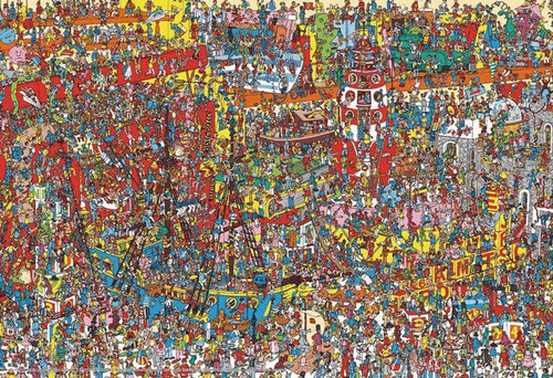 Beverly Jigsaw Puzzle 40-005 Where's Wally? Many Toys (40 L-Pieces)