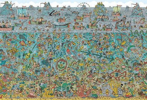 Beverly Jigsaw Puzzle L74-122 Where's Wally? (150 L-Pieces)