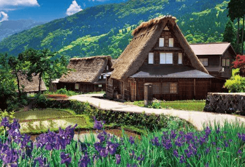 Beverly Jigsaw Puzzle M71-855 Japanese Scenery Gokayama (1000 S-Pieces)