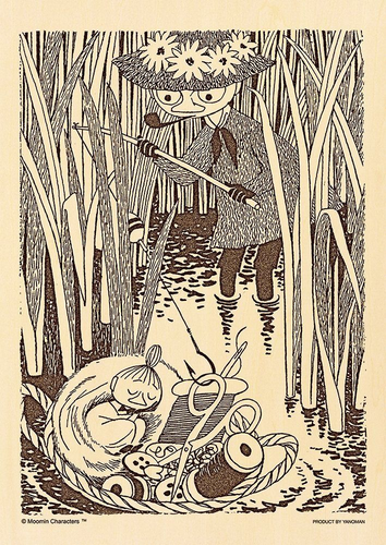Yanoman Wooden Jigsaw Puzzle 33-18 Moomin Snufkin & Little My (300 Small Pieces)