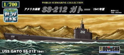 Doyusha 301128 USS Gato SS-212 1941 Submarine 1/700 Scale Kit