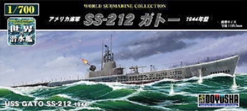 Doyusha 301135 USS Gato SS-212 1944 Submarine 1/700 Scale Kit