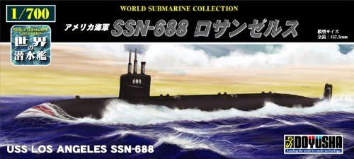 Doyusha 301142 USS Los Angeles SSN-688 Submarine 1/700 Scale Kit