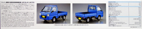 Aoshima 51559 The Model Car 04 Subaru TT2 Sambar Truck WR Blue Limited 11' 1/24 Scale kit