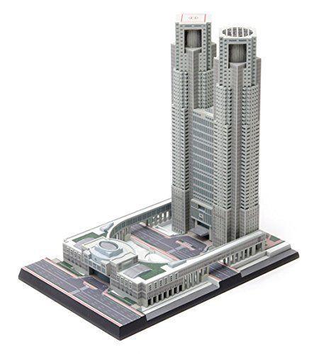 Wave OG021 Tokyo Metropolitan Government Building 1/2000 Scale Plastic  Model Kit
