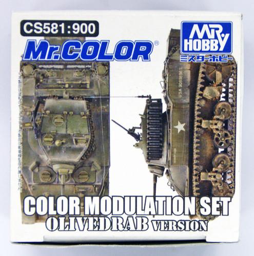 GSI Creos Mr.Hobby CS581 Mr. Color Modulation Set Olive Drab Version