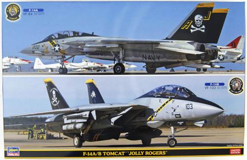 Hasegawa SP346 F-14A/B Tomcat Jolly Rogers 2 Aircraft Set 1/72 Scale Kit
