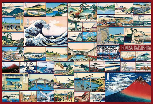 Beverly Jigsaw Puzzle 31-474 Hokusai Thirty-six Views of Mt. Fuji (1000 Pieces)