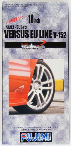 Fujimi TW27 VERSUS EU LINE V-152 Wheel & Tire Set 18 inch 1/24 Scale Kit