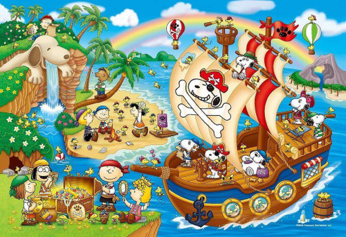 Apollo-sha Jigsaw Puzzle 48-795 Peanuts Pirates Snoopy Adventure (300 Pieces)
