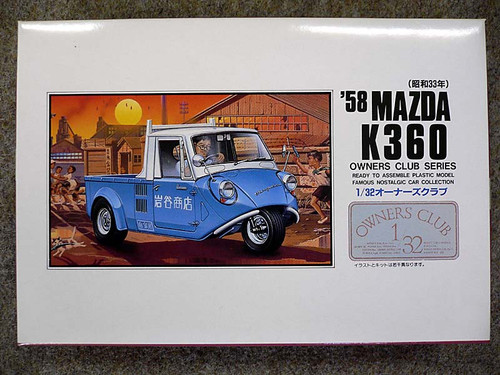 Arii Owners Club 1/32 17 1958 MAZDA K360 1/32 Scale Kit (Microace)