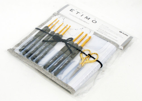 Tulip TEG-001 ETIMO Cushion Grip Crochet Hooks 8 pcs set (Premium Gold)