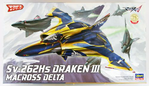 Hasegawa Macross 28 Sv-262Hs Draken III Mcross Delta 1/72 Scale Kit