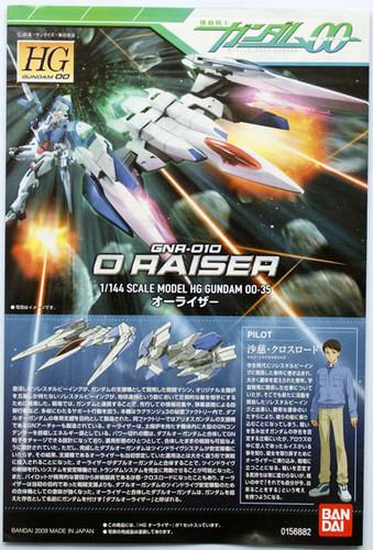 Bandai HG OO 35 Gundam GNA-010 O RAISER 1/144 Scale Kit