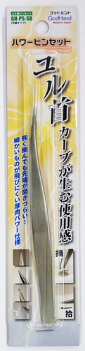 God Hand GH-PS-SB Power Curved Tweezers Narrow Tip Type