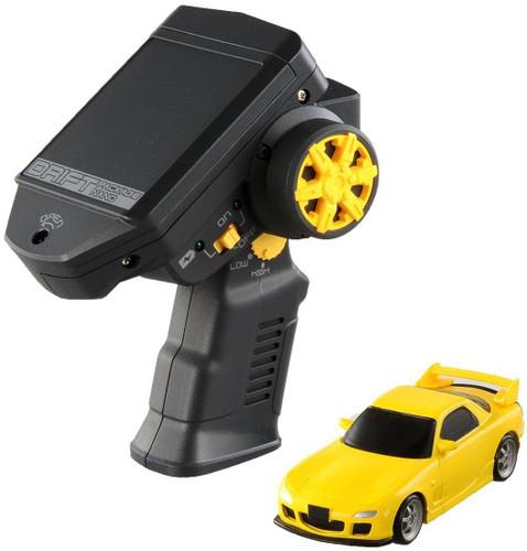 Takara Tomy Drift RC Series Drift Package Nano 02 MAZDA RX-7 (FD3S) Yellow