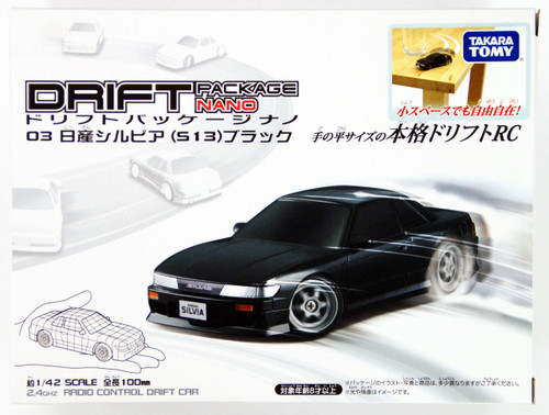 Takara Tomy Drift RC Series Drift Package Nano 03 NISSAN Silvia (S13) Black