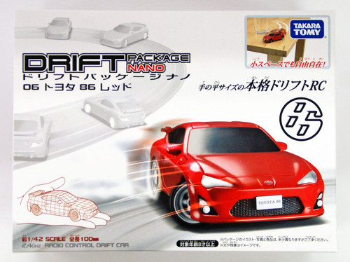 Takara Tomy Drift RC Series Drift Package Nano 06 Toyota 86 Red