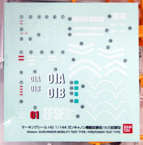 Bandai Gundam The Origin 014 RCS-76-01 Guncannon Mobility Test Type/ Firepower Test Type 1/144 Scale Kit