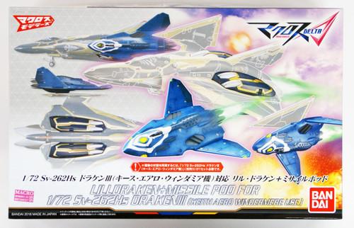 Bandai 094302 Macross Delta Sv-262Hs DRAKEN III (Keith Aero Windermere Use) Lill Draken & Missile Pod 1/72 Scale kit