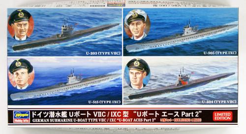 Hasegawa 30040 German Submarine U-Boat Type VIIC/IXC U-Boat Aces Part 2 1/700