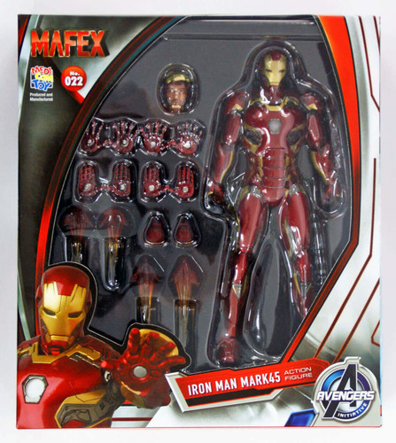 Medicom MAFEX 022 Iron Man Mark 45 Marvel Avengers Age of Ultron
