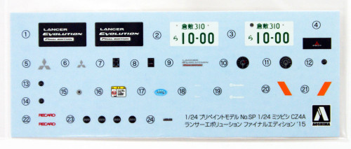 Aoshima 50897 Lancer Evolution X Final Ed. '15 Red Metallic (Pre-painted) 1/24 scale kit