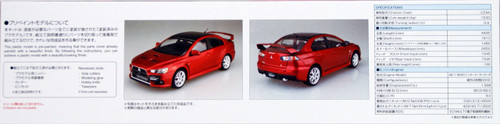 Aoshima 50897 Lancer Evolution X Final Ed. '15 Red Metallic (Pre-painted) 1/24 scale kit
