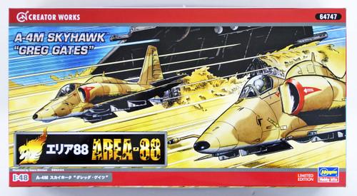"""Hasegawa 64747 Area-88 A-4M Skyhawk """"Greg Gates"""" 1/48 scale kit"""
