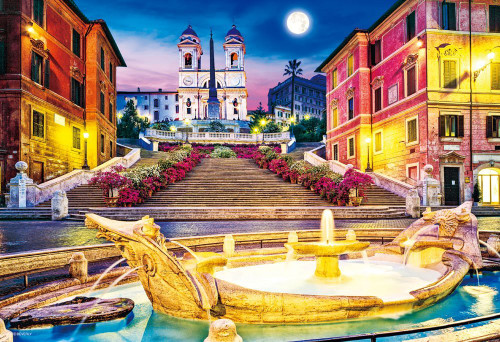 Beverly Jigsaw Puzzle M81-859 Spanish Square Piazza di Spagna Rome Italy (1000 S-Pieces)