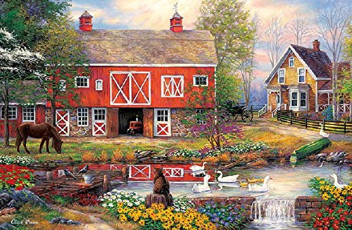 APPLEONE Jigsaw Puzzle 1000-797 Country Life (1000 Pieces)