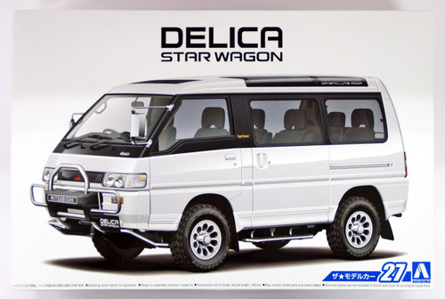 Aoshima 52334 The Model Car 27 Mitsubishi P35W Delica Star Wagon '91 1/24 scale kit