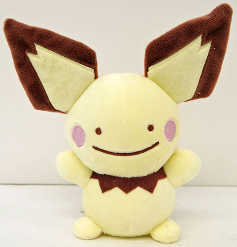 Pokemon Center Original Plush Doll Ditto Metamon Pichu 2016 200538