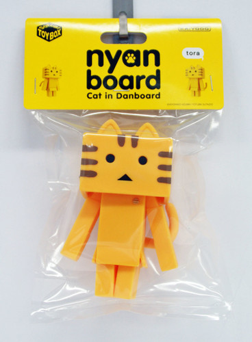 Kaiyodo Soft Vinyl Toy Box STB006B Nyanboard Tora Figure